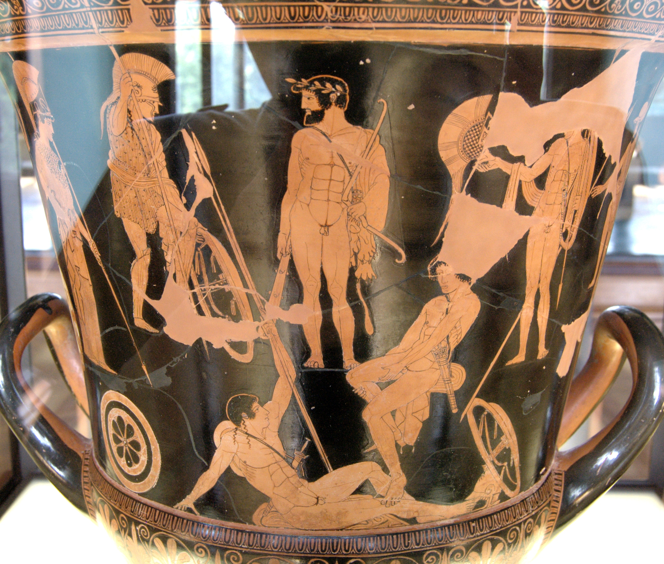 The history of ancient greece podcast 057 classical paintings photovase painting of athena herakles and companions by niobid painter reviewsmspy