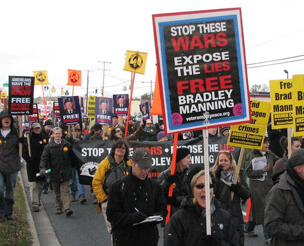 Rally at Ft Meade for Bradley Manning