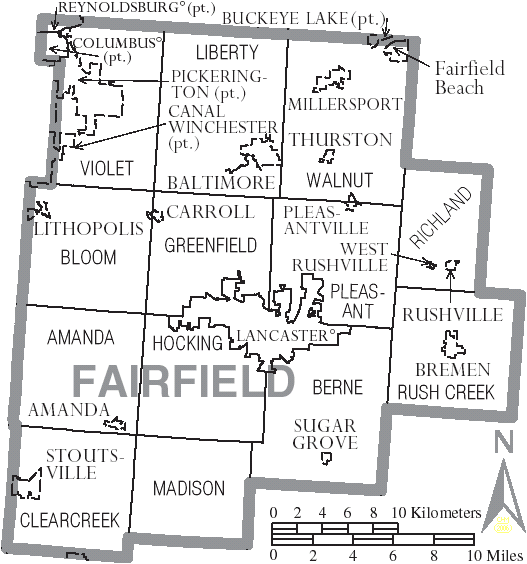 File Map Of Fairfield County Ohio With Municipal And Township Labels