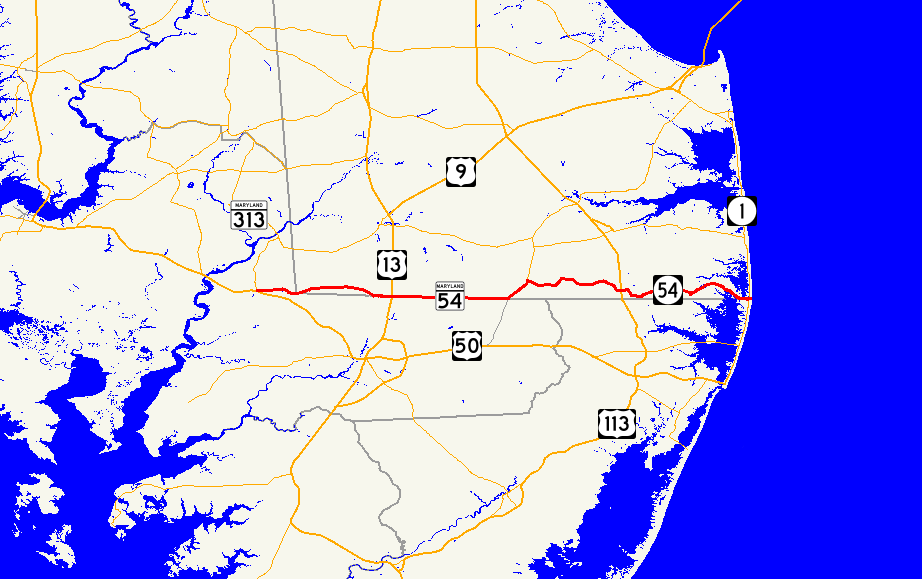 Route 54 (Maryland–Delaware) - Wikipedia
