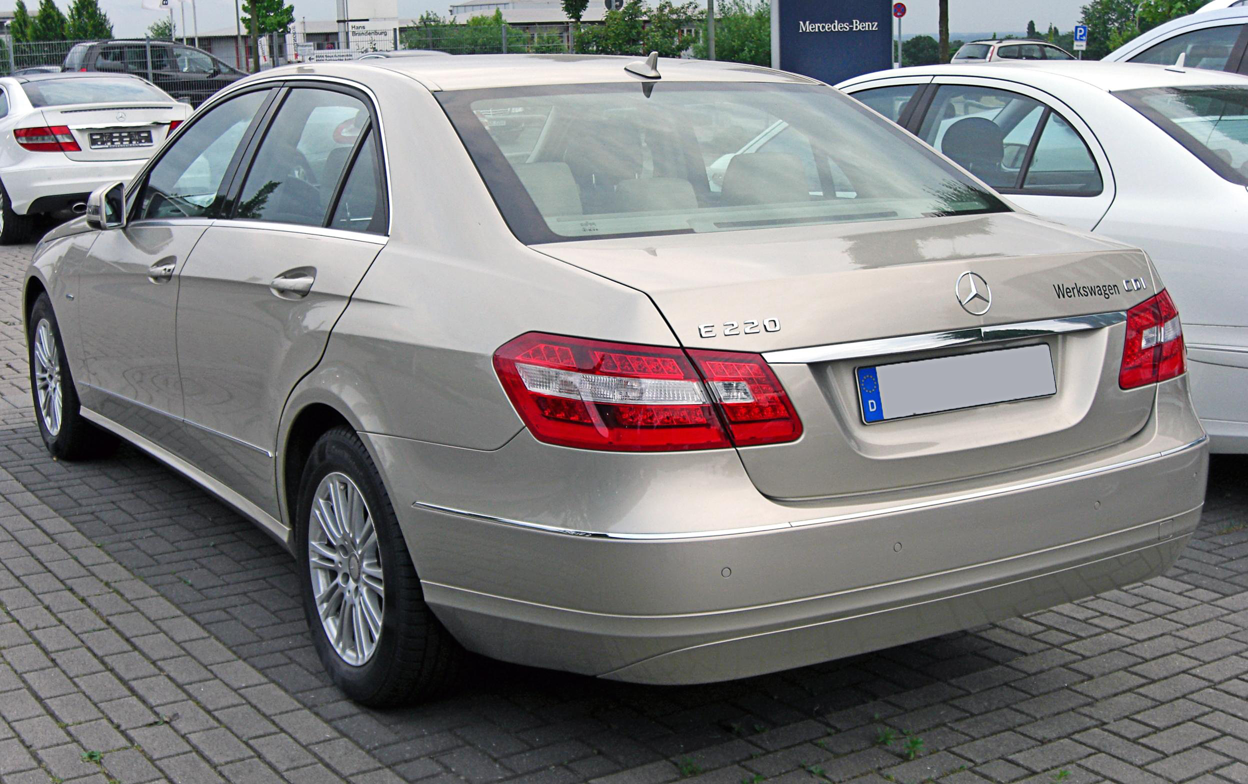 file mercedes e 220 cdi blueefficiency elegance w212 20090603 rear jpg wikipedia. Black Bedroom Furniture Sets. Home Design Ideas