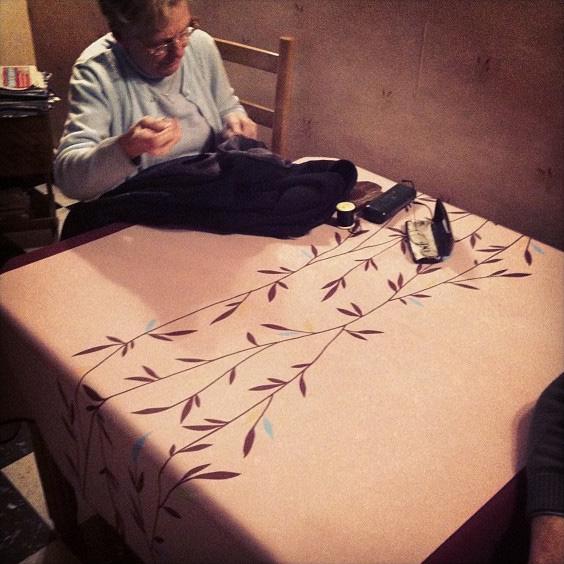 Merci mamie pour l'atelier couture improvisé!