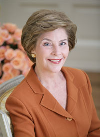 Former First Lady Laura Bush '73 received an M.L.S. from the University of Texas at Austin. Mrsbush-20060206.jpg