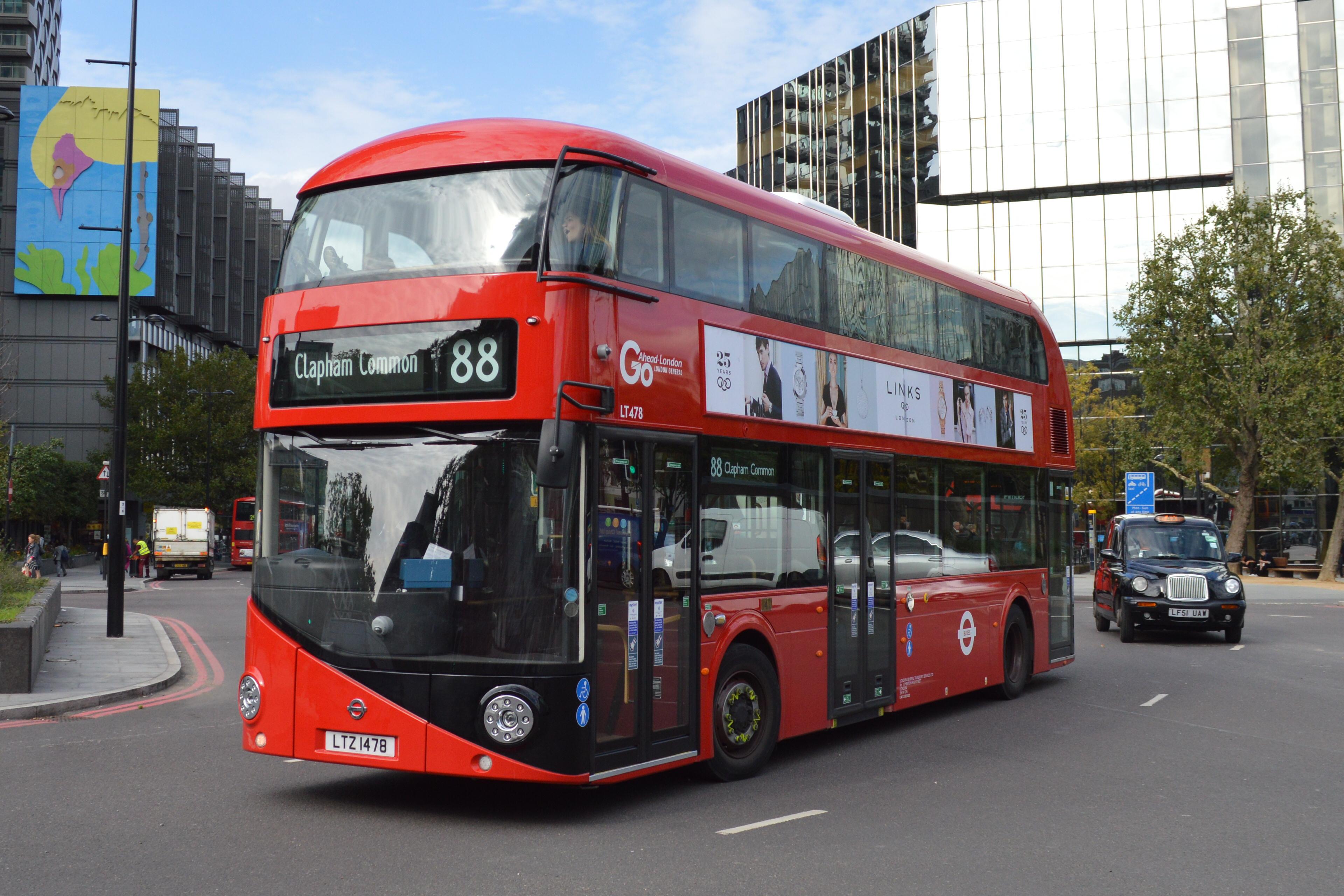 88 Clapham Common Go-Ahead Londra NEW Routemaster