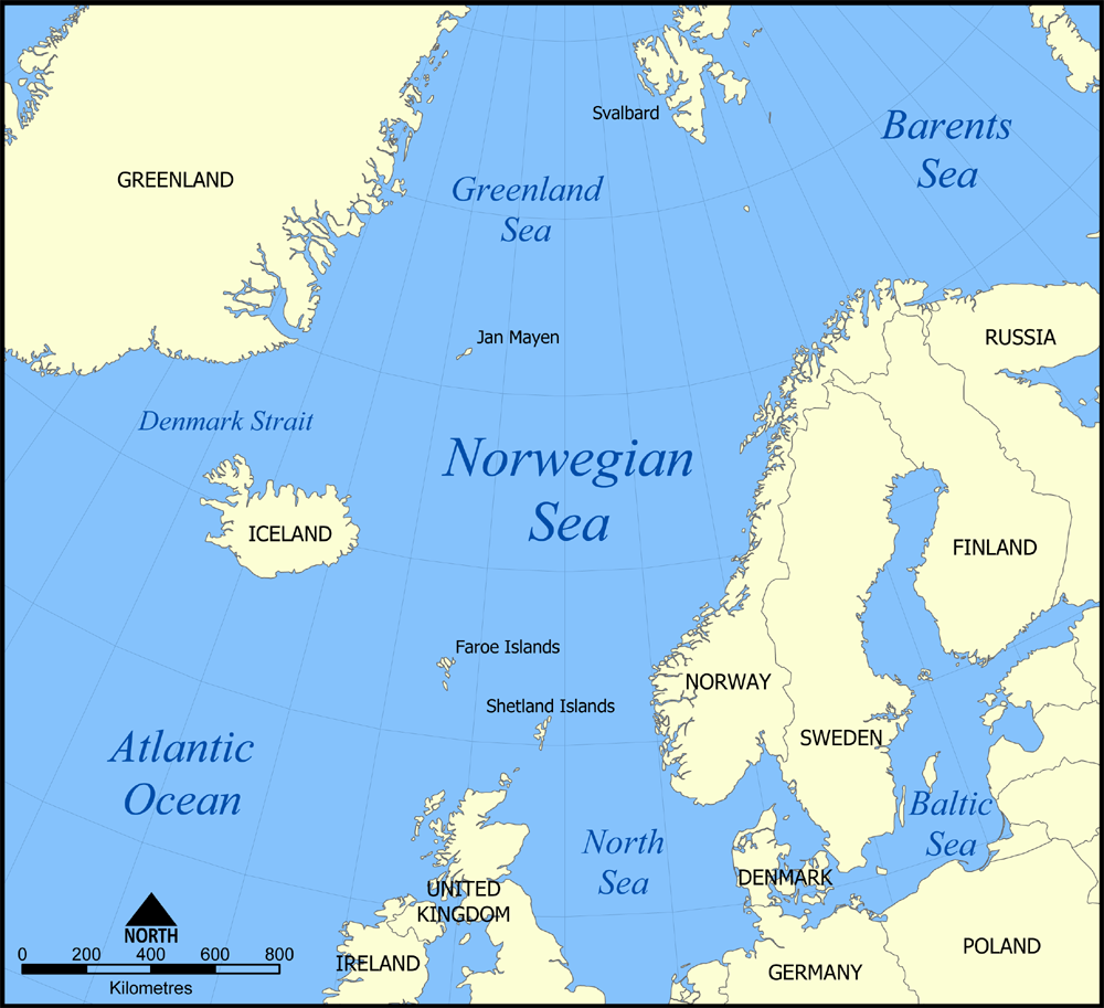 Norwegian Sea: (bordering) Greenland, Iceland, Norway