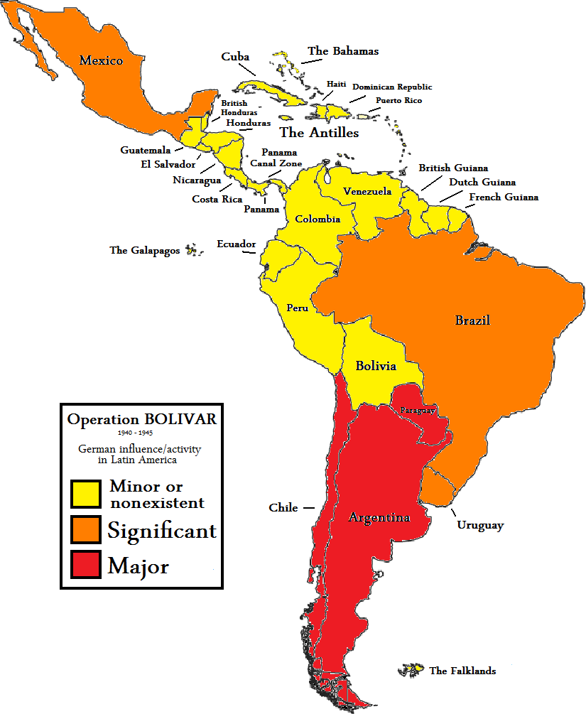map of latin american countries with File Operation Bolivar World War Ii Latin America on File South America En as well Safe Holiday Destinations For British Tourists Terrorism Finland as well File Operation BOLIVAR World War II Latin America furthermore Freedom World 2018 as well Large Detailed Political Map Of South America With Roads.