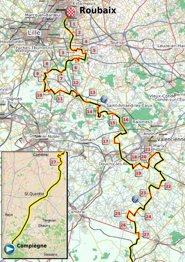 l open tour paris route map pdf