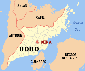 Map of Iloilo showing the location of Mina