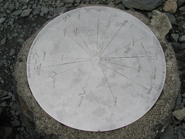 Plaque on top of Skiddaw - geograph.org.uk - 11360