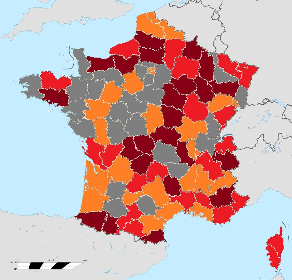 carte des gilet jaune File:Pourcentage de gilets jaunes rapporté à la population.png