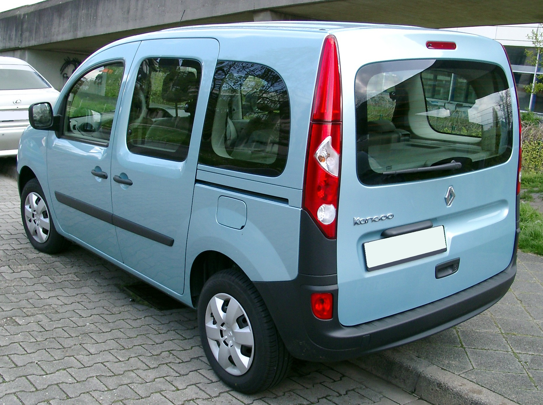file renault kangoo rear wikimedia commons. Black Bedroom Furniture Sets. Home Design Ideas