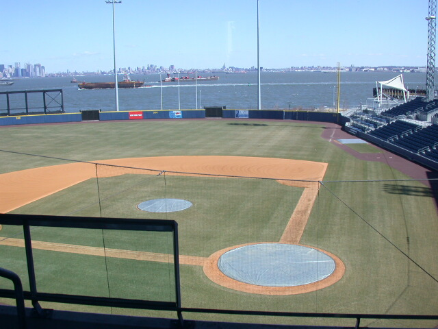 Image: Richmond County Bank Ballpark and a view of Upper New York Bay