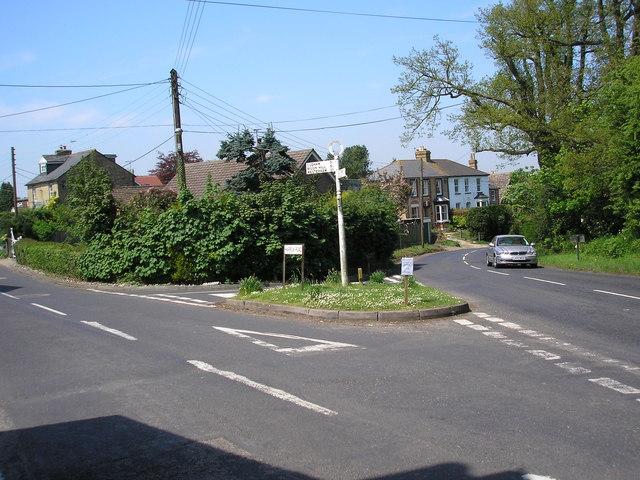 Road junction, Knockholt Pound, Kent - geograph.org.uk - 167792