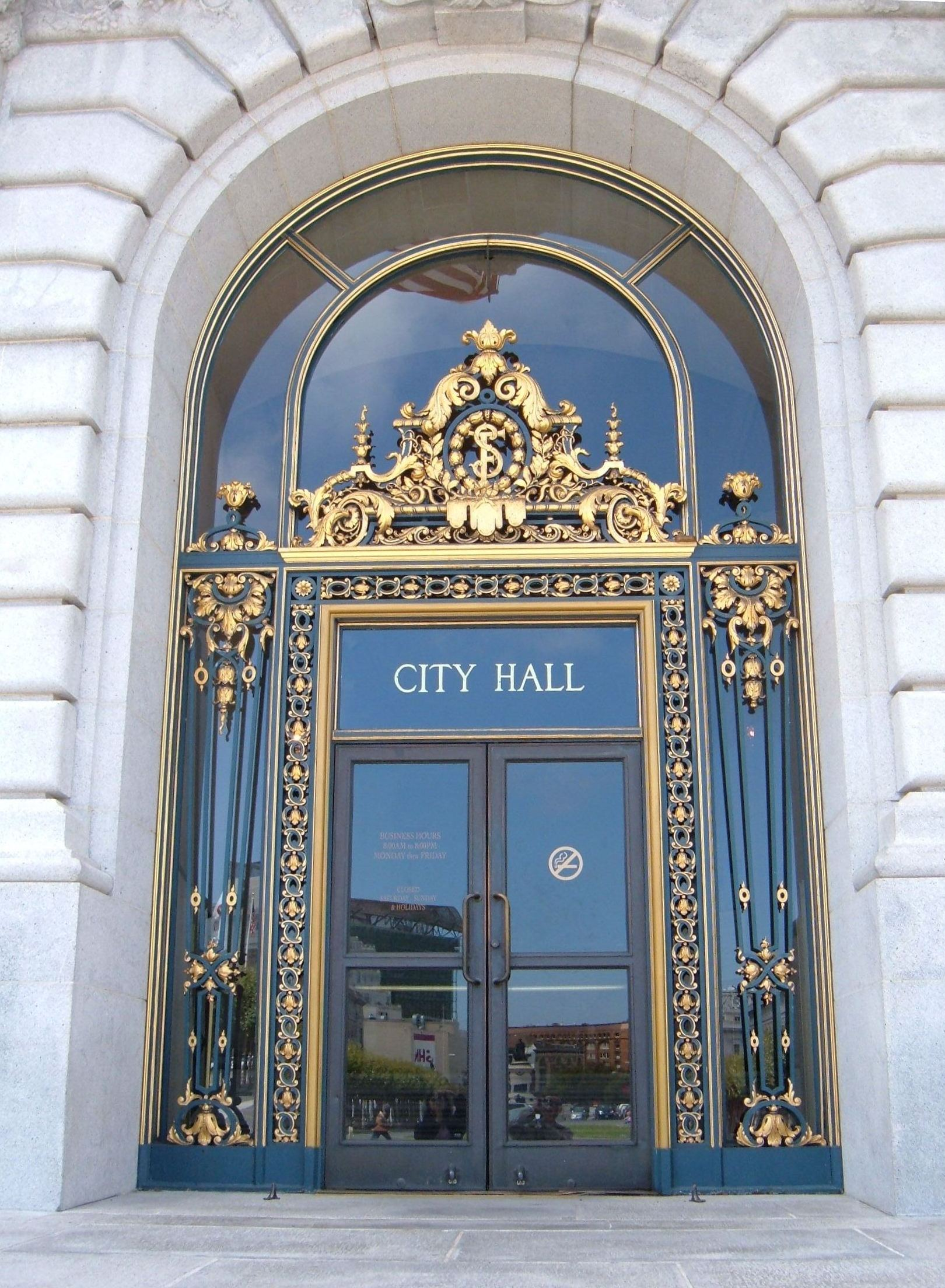 FileSF City Hall door.JPG & File:SF City Hall door.JPG - Wikimedia Commons