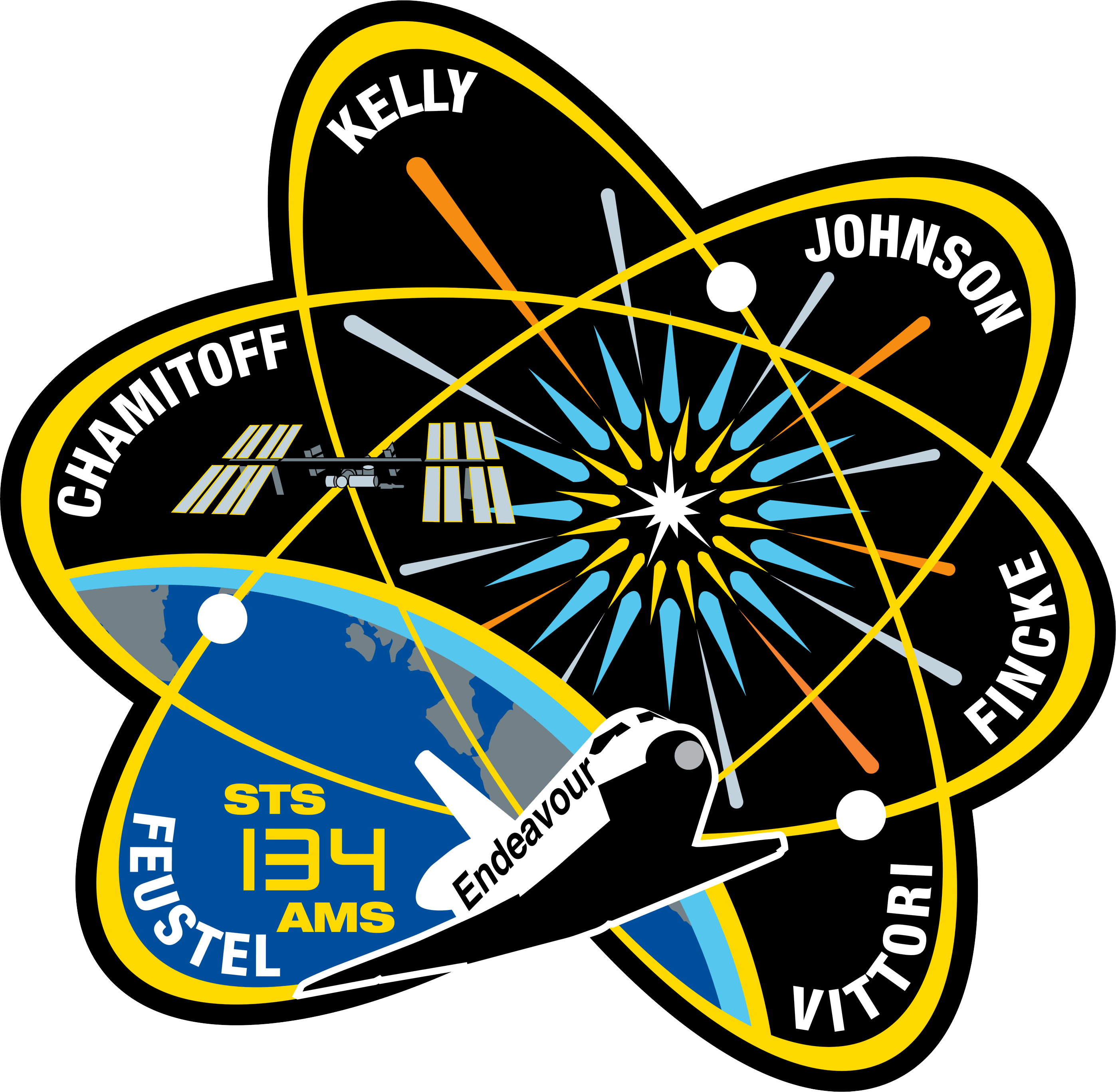 STS-134 crew patch, International Space Station (ISS)