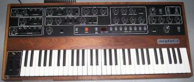 The Prophet-5, one of the first polyphonic synthesizers. It was widely used in 1980s synth-pop, along with the Roland Jupiter and Yamaha DX7. Sequential Circuits Prophet 5.jpg