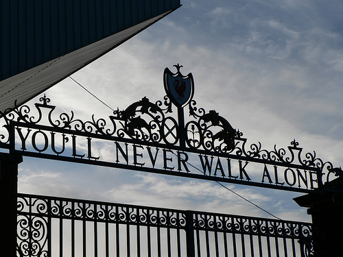 """Shankly Gates"" by Andynugent at en.wikipedia a.k.a. Andynugent at Flickr a.k.a. Andy Nugent. - Transferred from en.wikipedia. Licensed under CC BY-SA 2.5 via Wikimedia Commons."