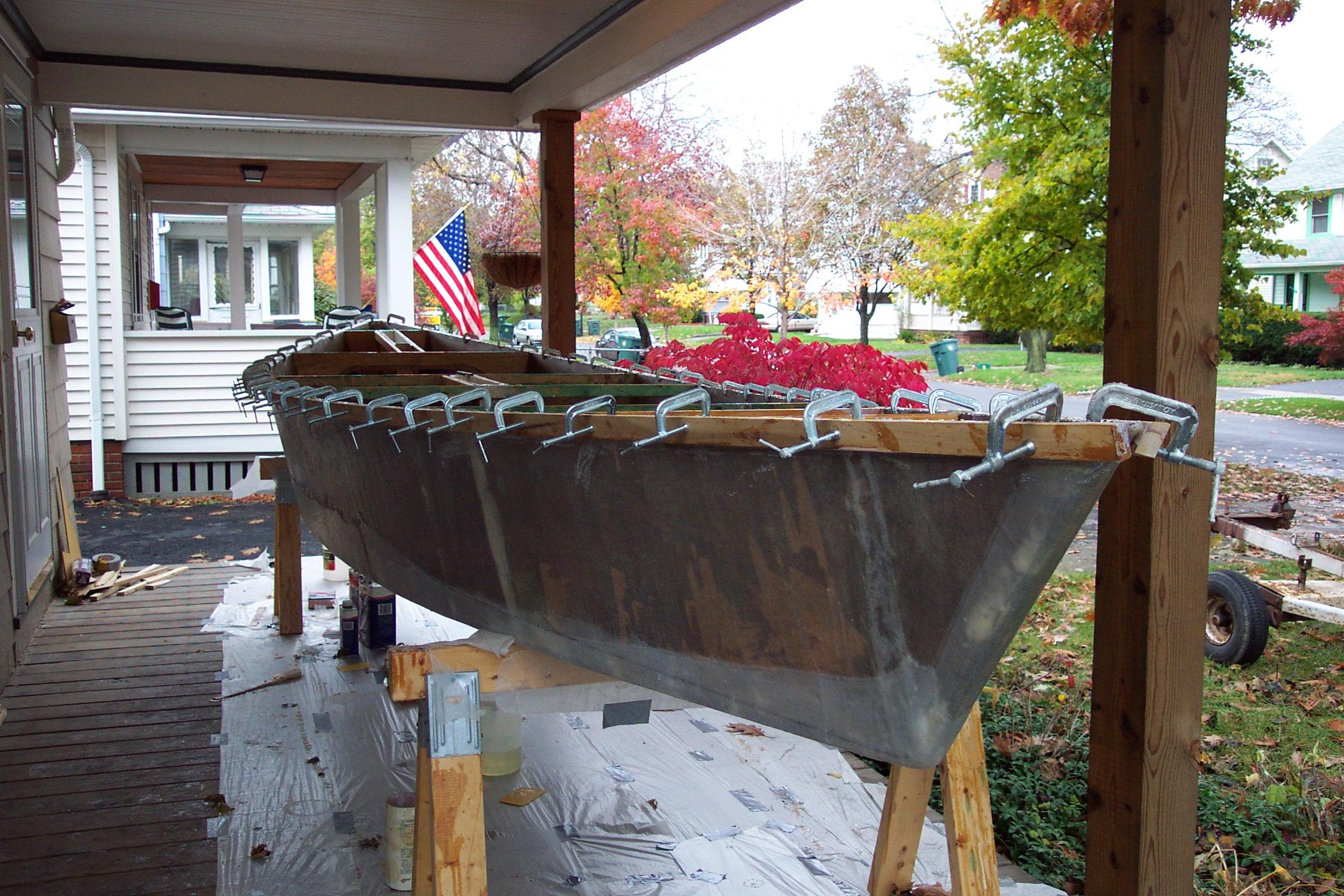 filesheet plywood boat under constructionjpg wikimedia
