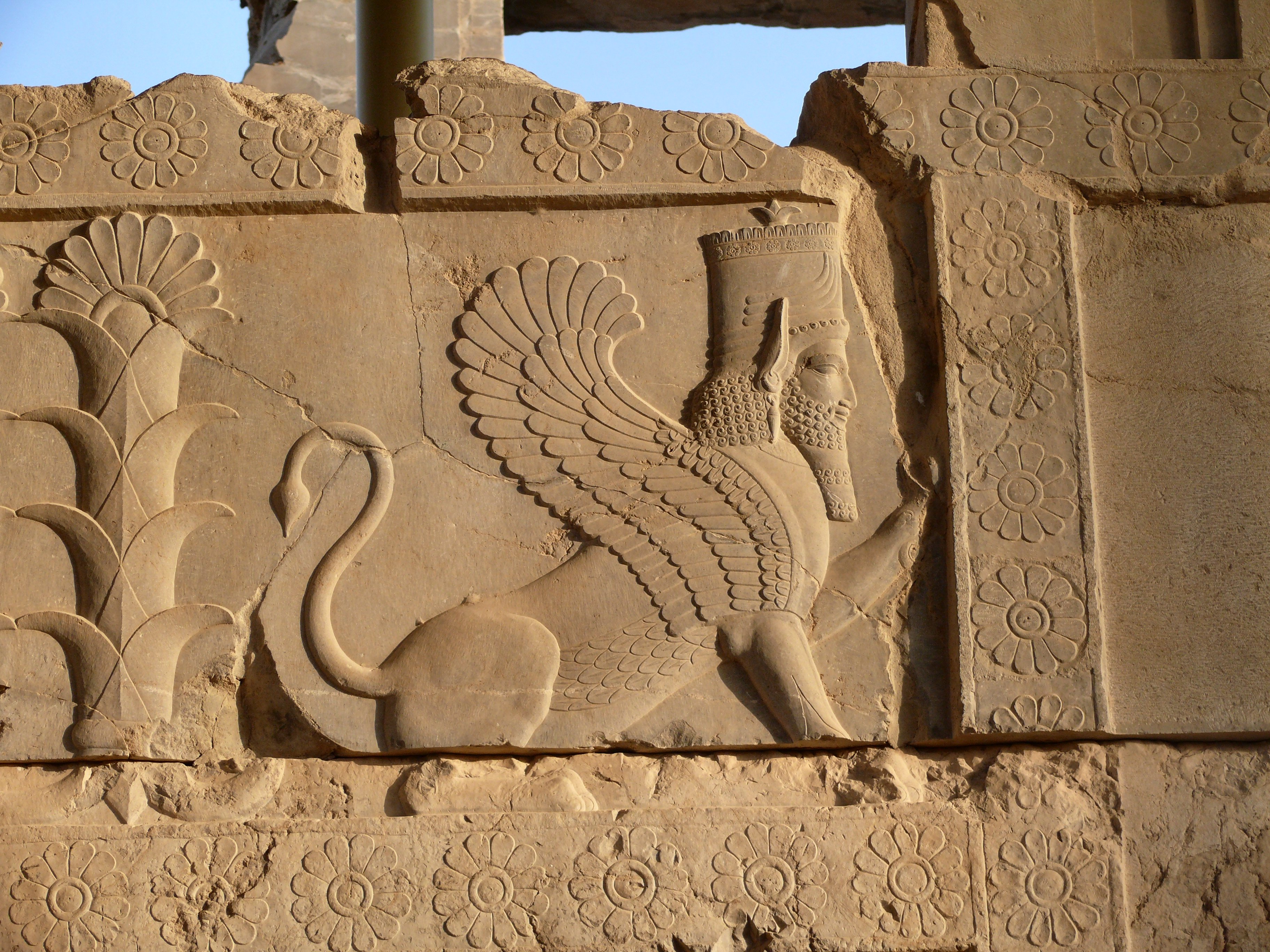 File Sphynx In Persepolis Shiraz Jpg Wikimedia Commons