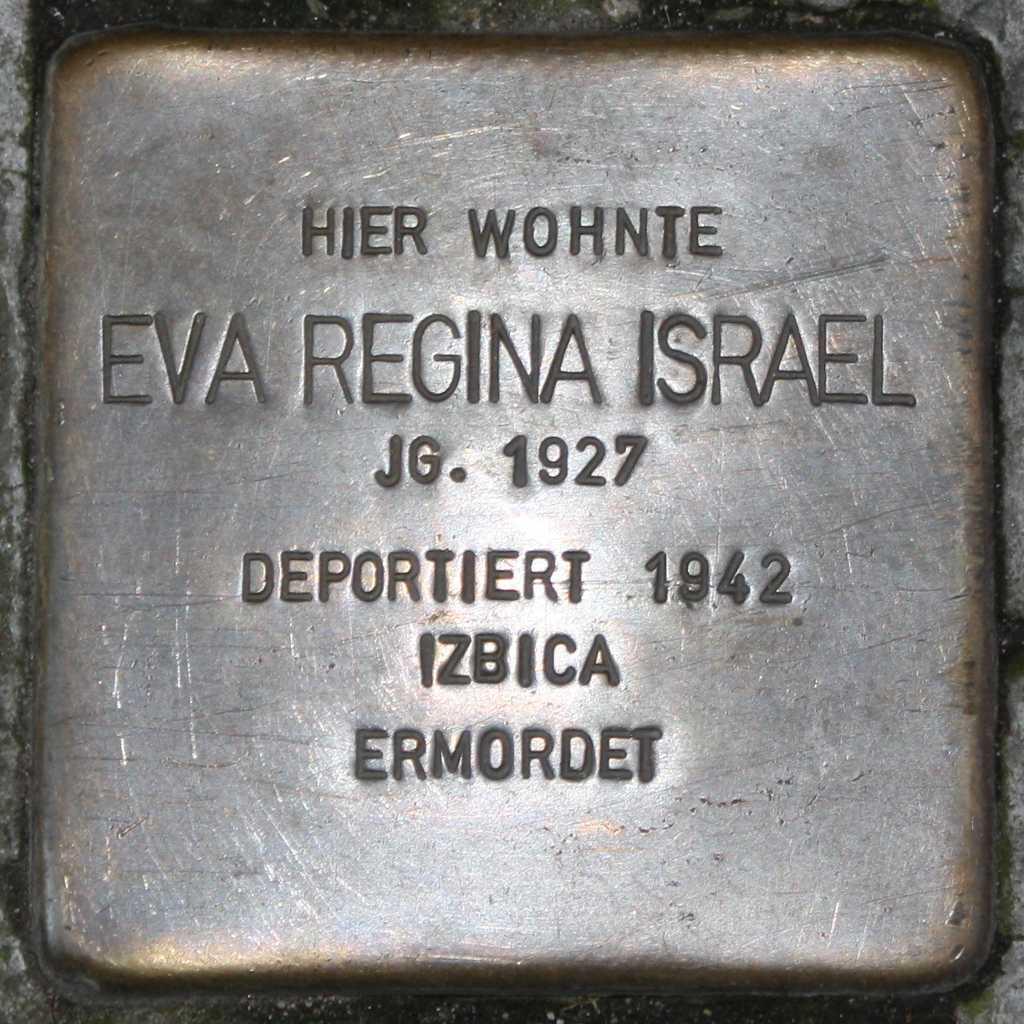 Stolperstein Eva Regina Israel Wuppertal 1024.jpg