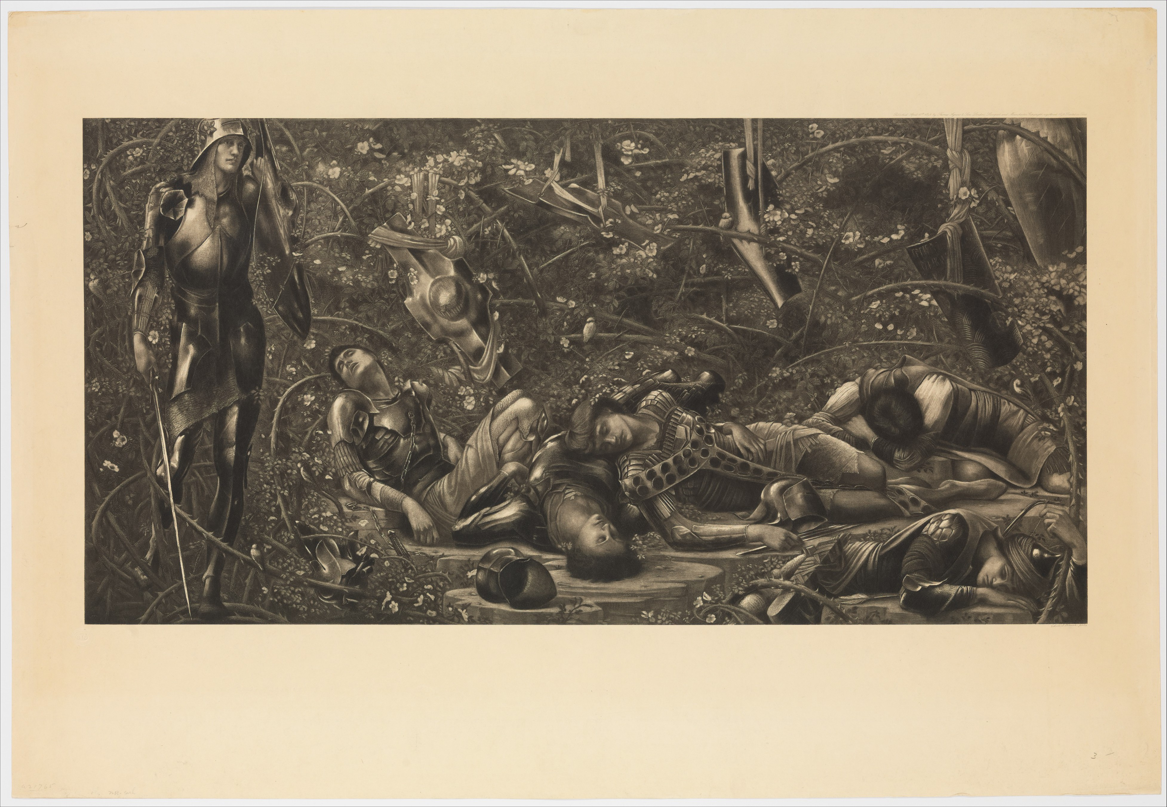 A photogravure of 'The Prince Enters the Briar Wood' from 1892 [CC0]