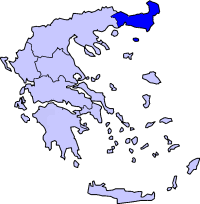 Western Thrace within Greece