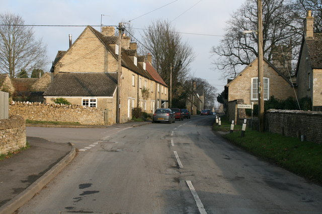 File:Turning into Church Road, Chadlington - geograph.org.uk - 1096309.jpg