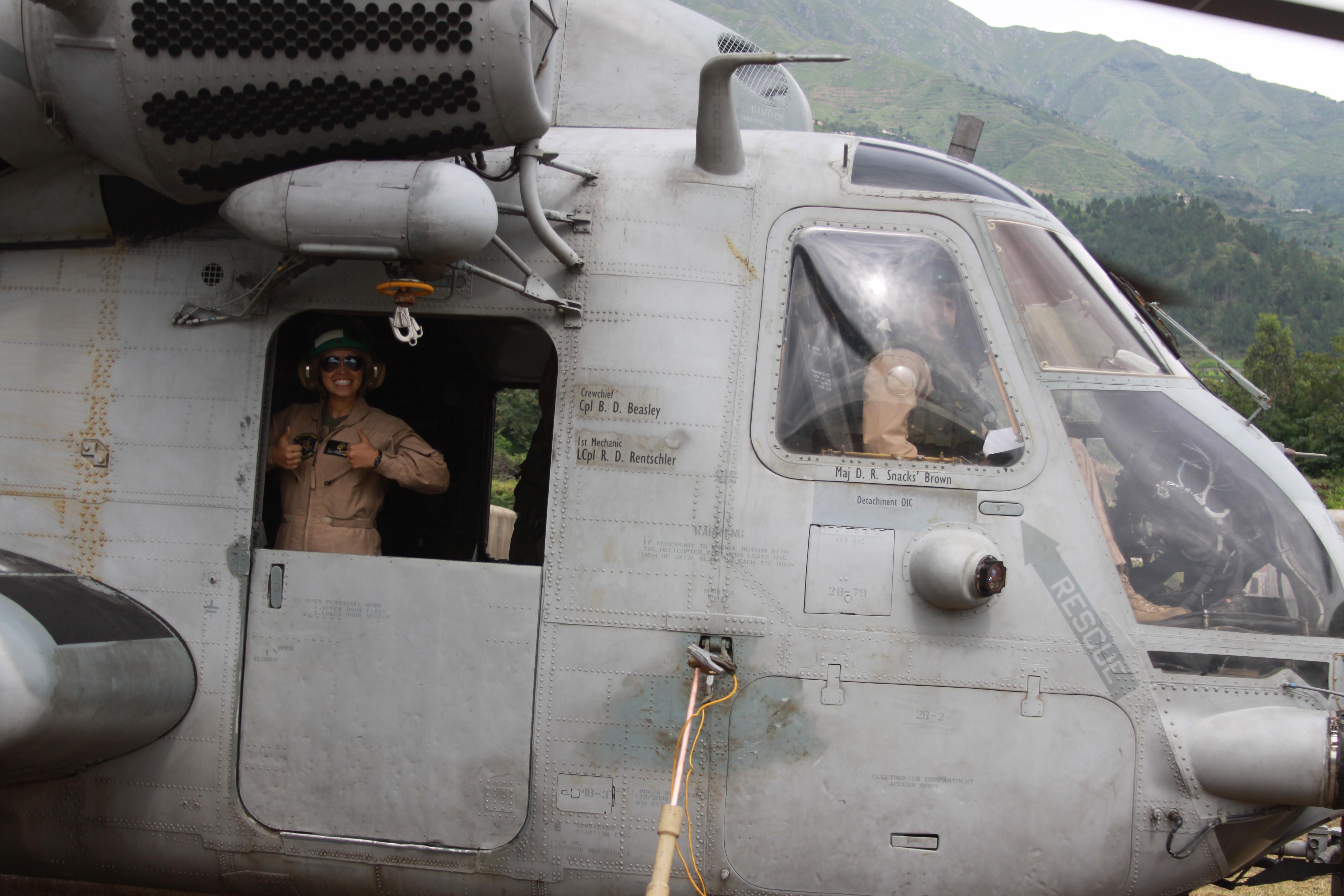 File:U.S. Marine Corps Cpl. Kirenia Dejarnatt, left, an airframes ...