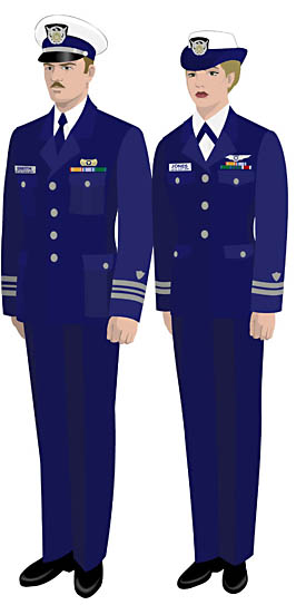 Coast guard service dress blue alpha