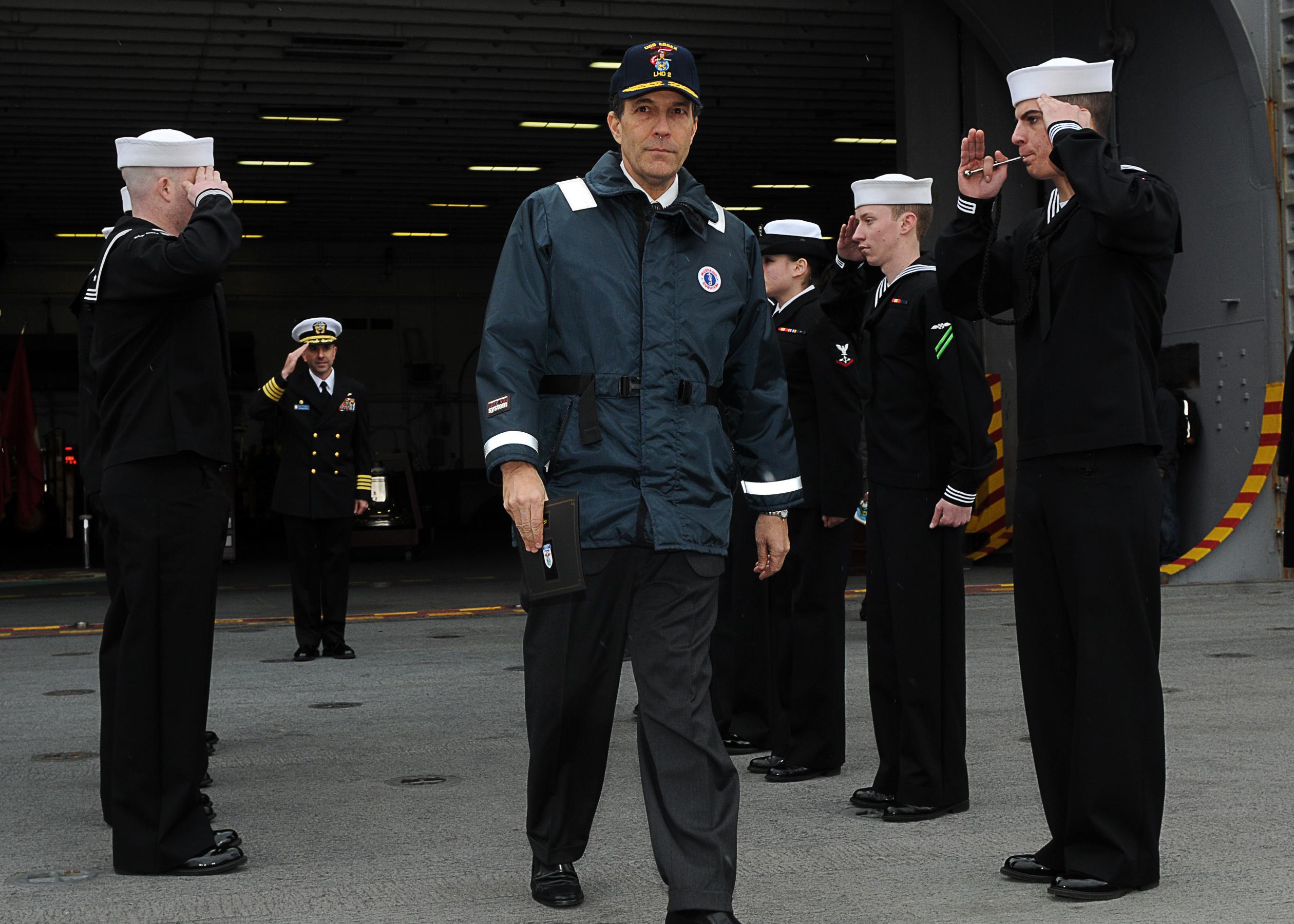 file us navy 110124 n 4743b 163 u s  ambassador to japan john