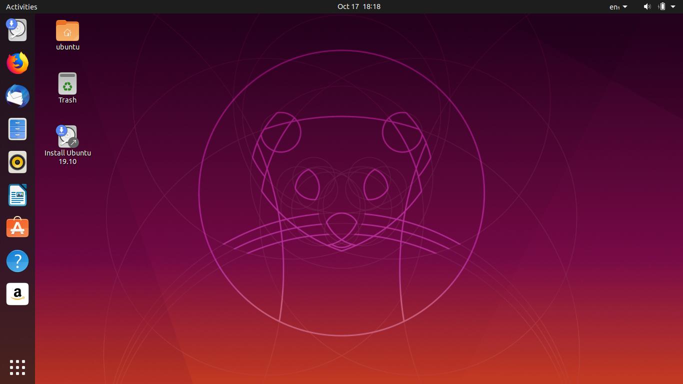 Desktop of Ubuntu
