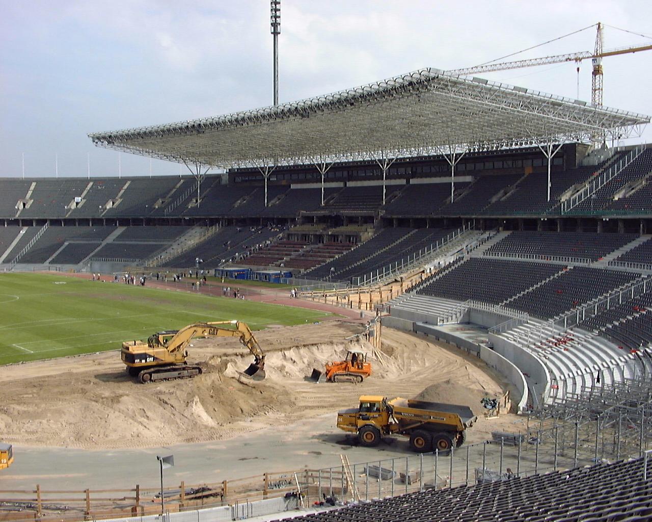 Olympiastadion Berlin Umbau