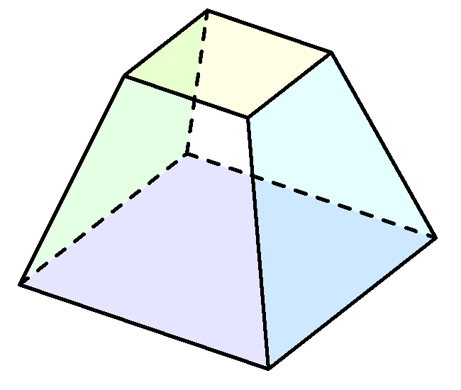 a hexahedron - a shape with six faces, eight corners