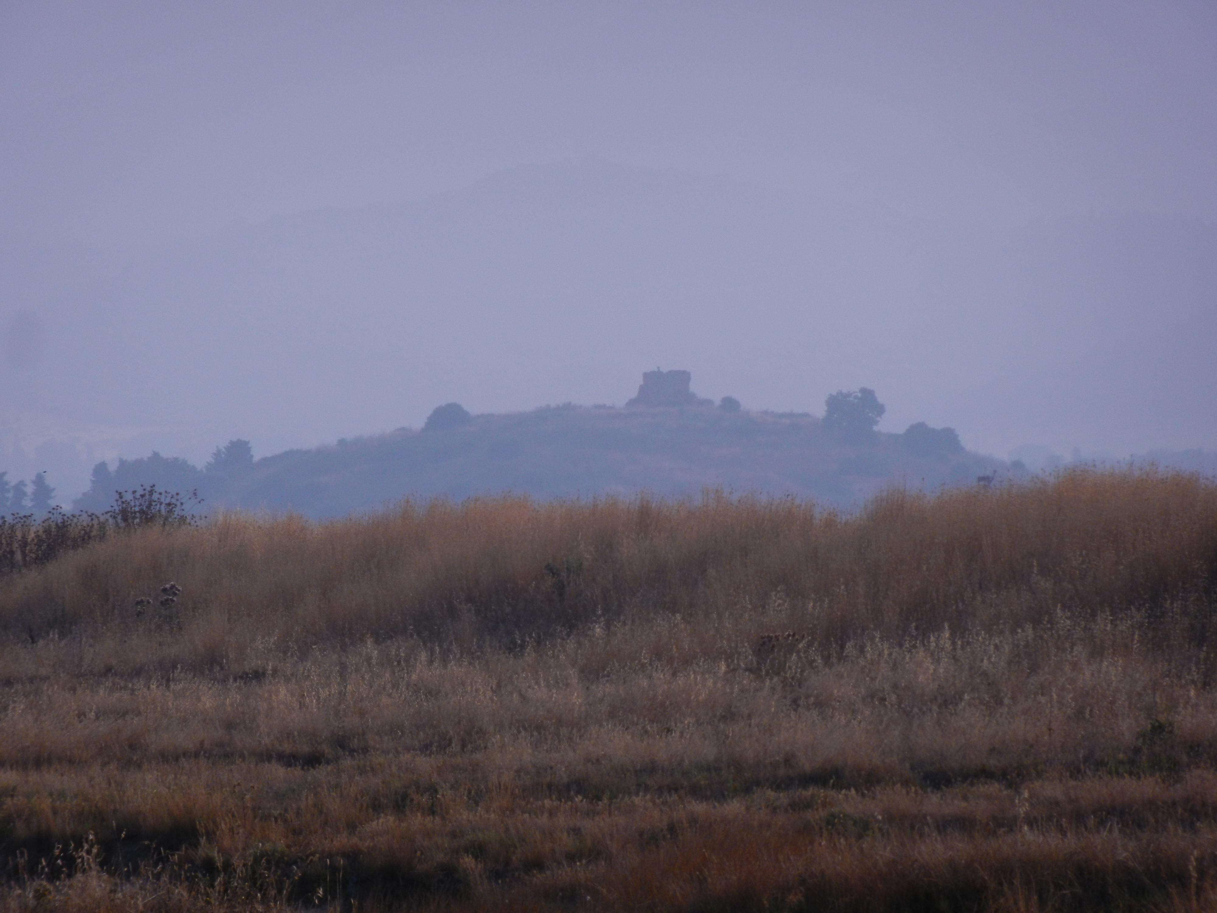 Vista dell'Abbazia di San Pancrazio al Fango dal Padule