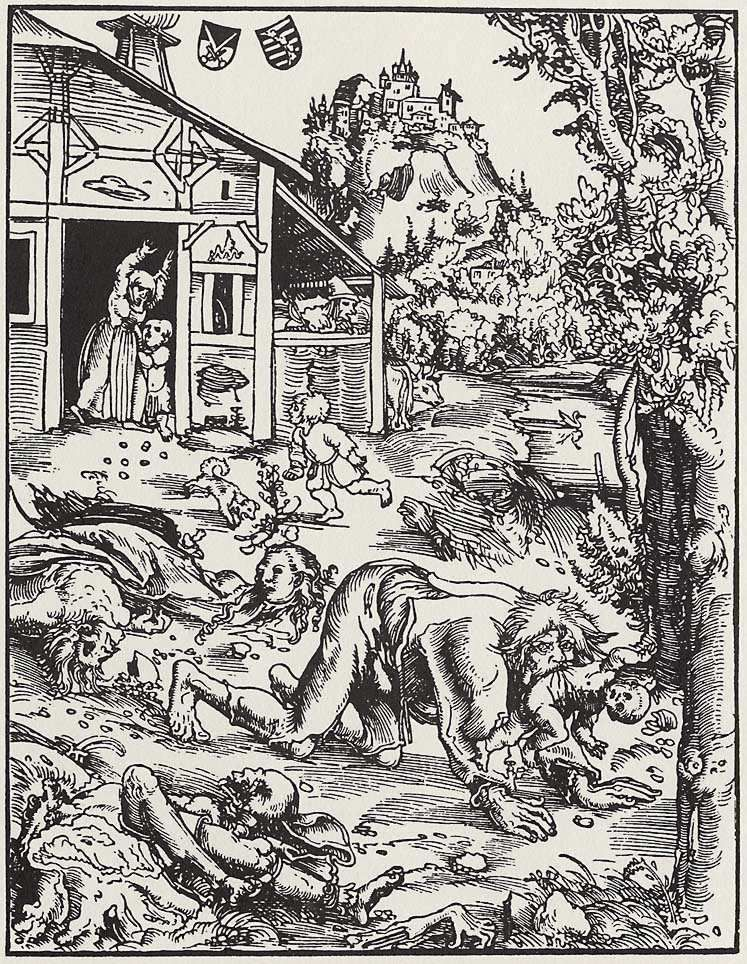 """Werwolf"" von Lucas Cranach der Ältere - Gotha, Herzogliches Museum (Landesmuseum). Lizenziert unter Gemeinfrei über Wikimedia Commons - https://commons.wikimedia.org/wiki/File:Werwolf.png#/media/File:Werwolf.png"