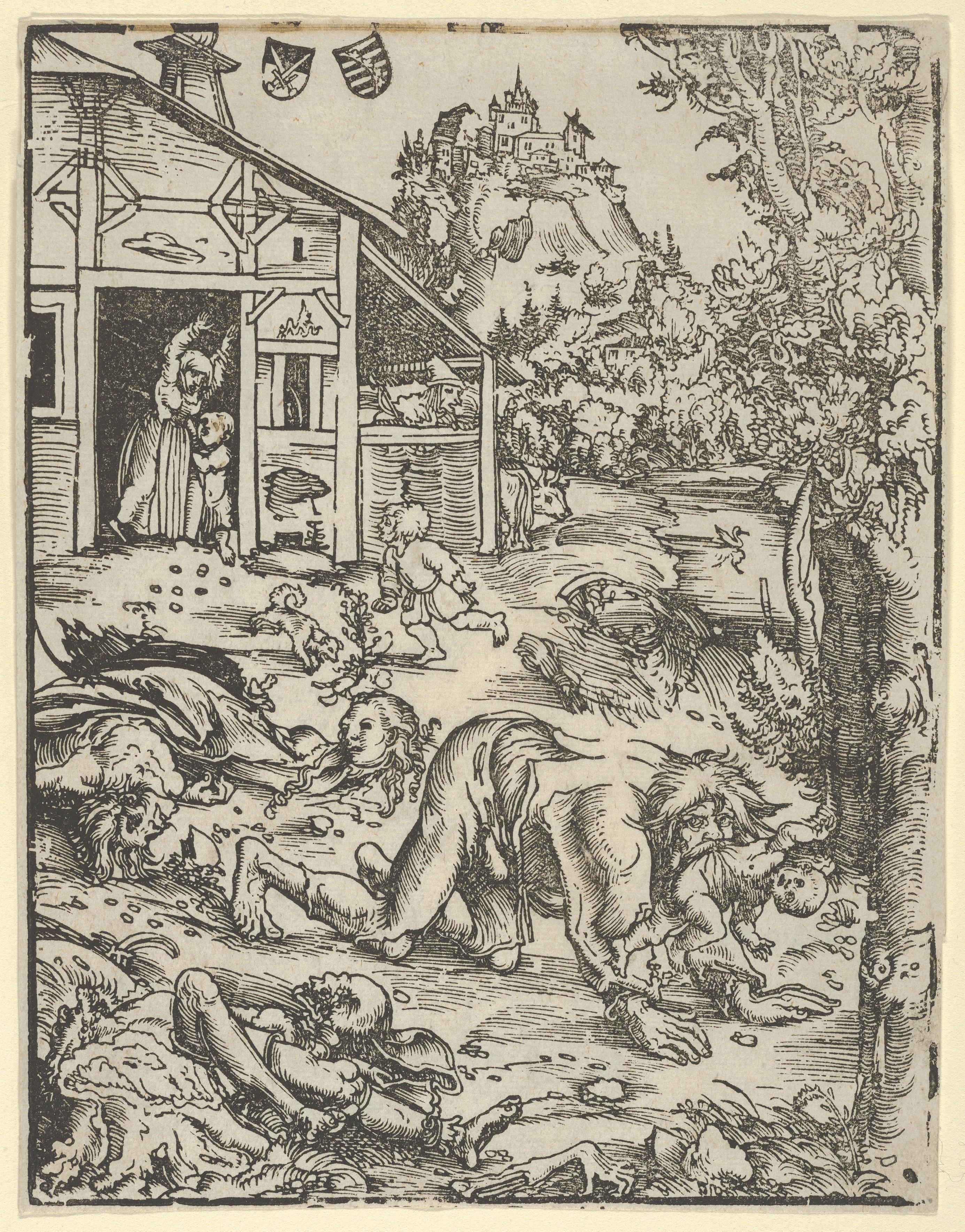 """Werewolf, by Lucas Cranach der Ã""""ltere, 1512."""