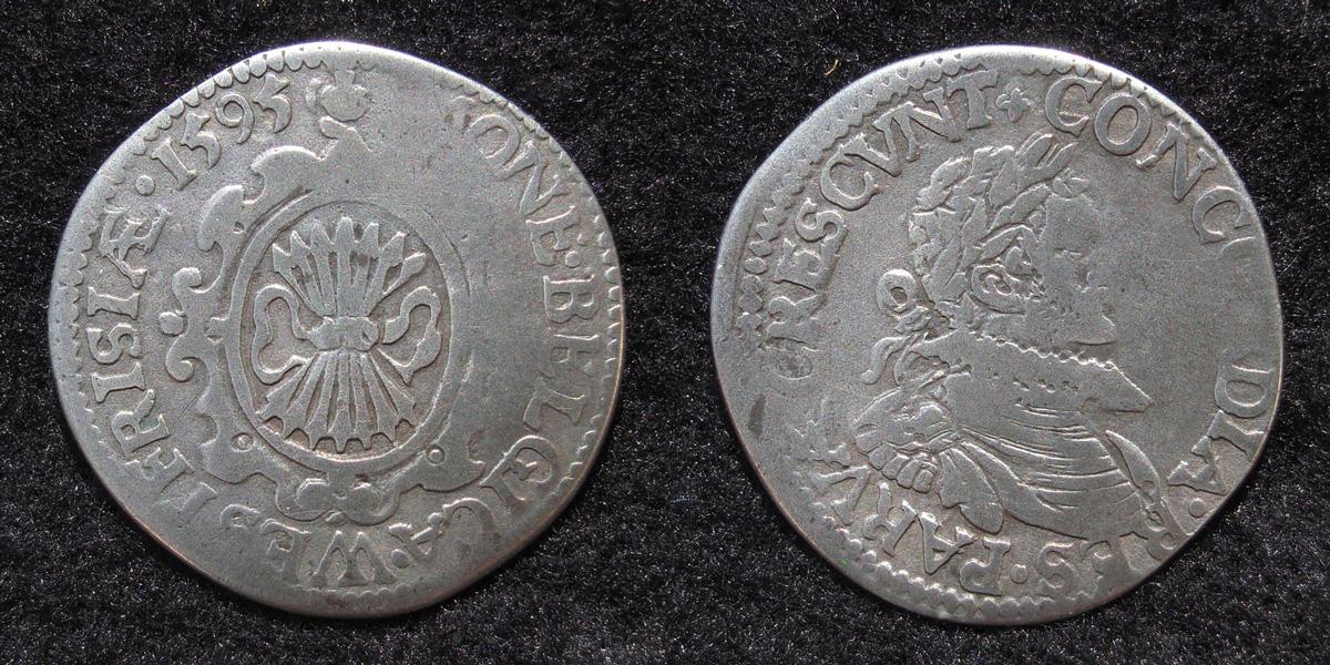 1/20e de Stoter de Leicester, 1595, République  du West-Friesland (1581-1795) ... Westfriesland_stoter_1595