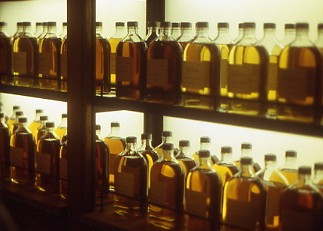 Whiskey bottling plant