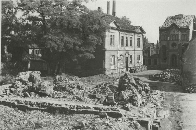 Worms Synagogue; Rubble