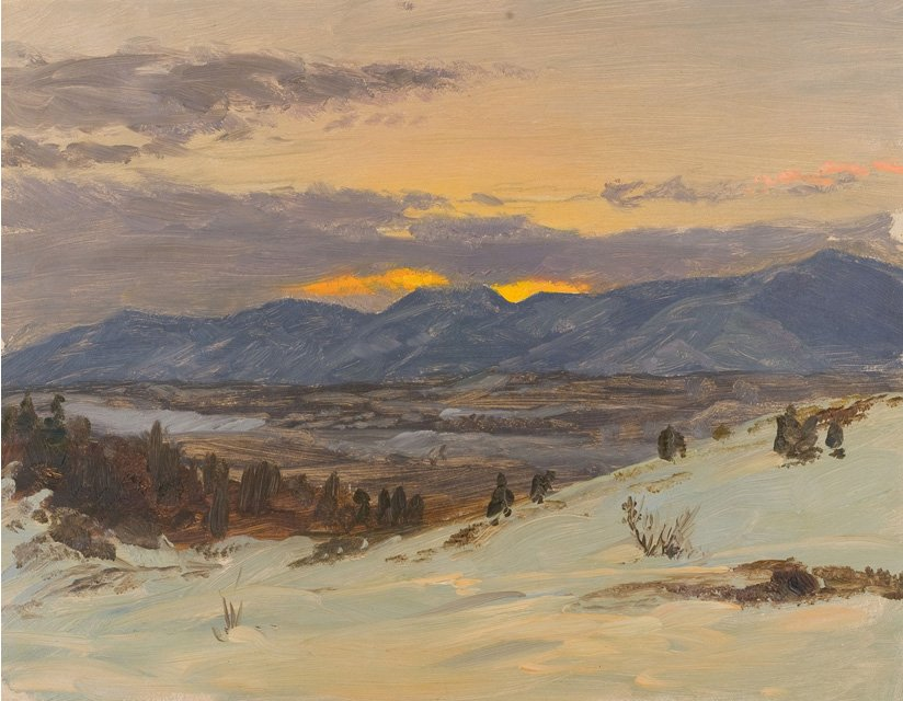 File 39 winter twilight from olana 39 by frederic edwin church for Frederick church paintings