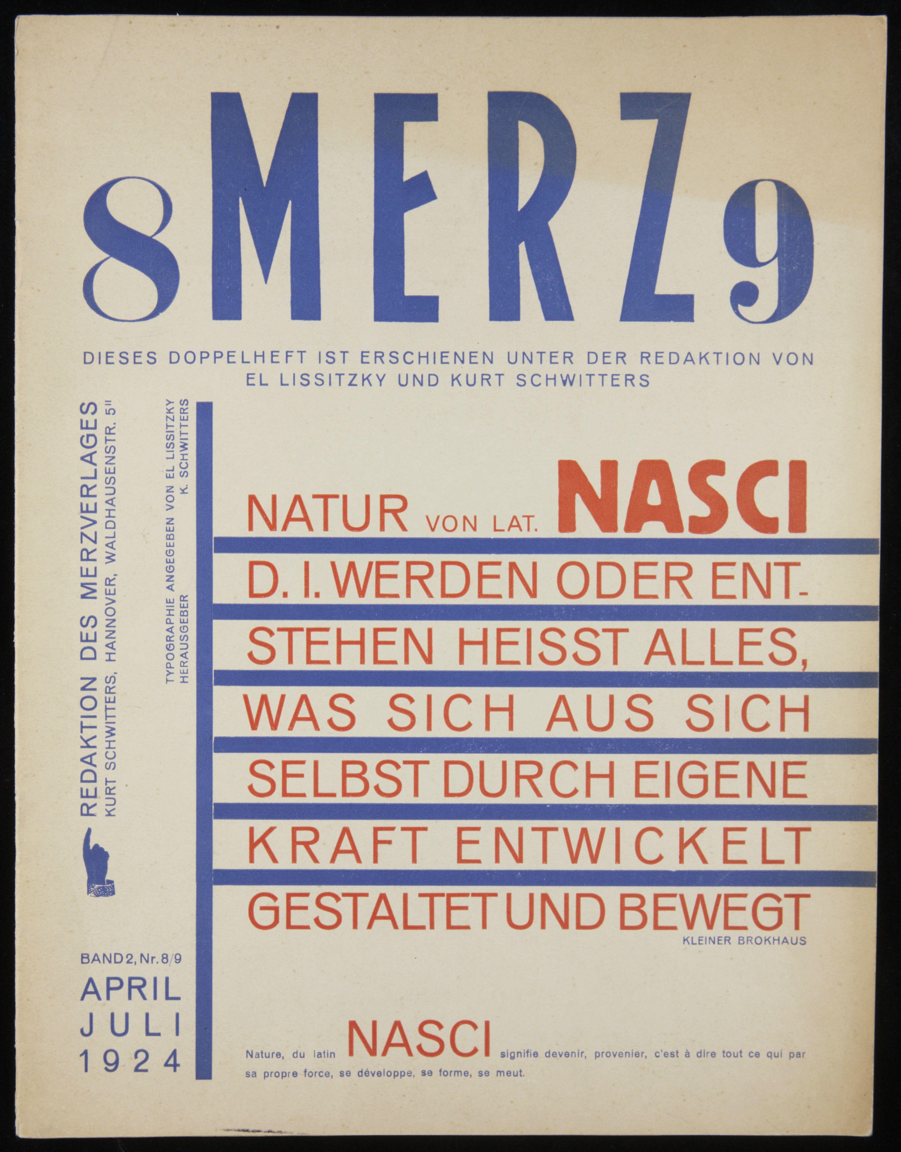 1924. Merz Magazine Layout by El Lissitzky