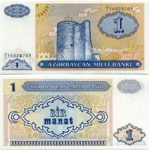 Azerbaijan's 1 manat banknote