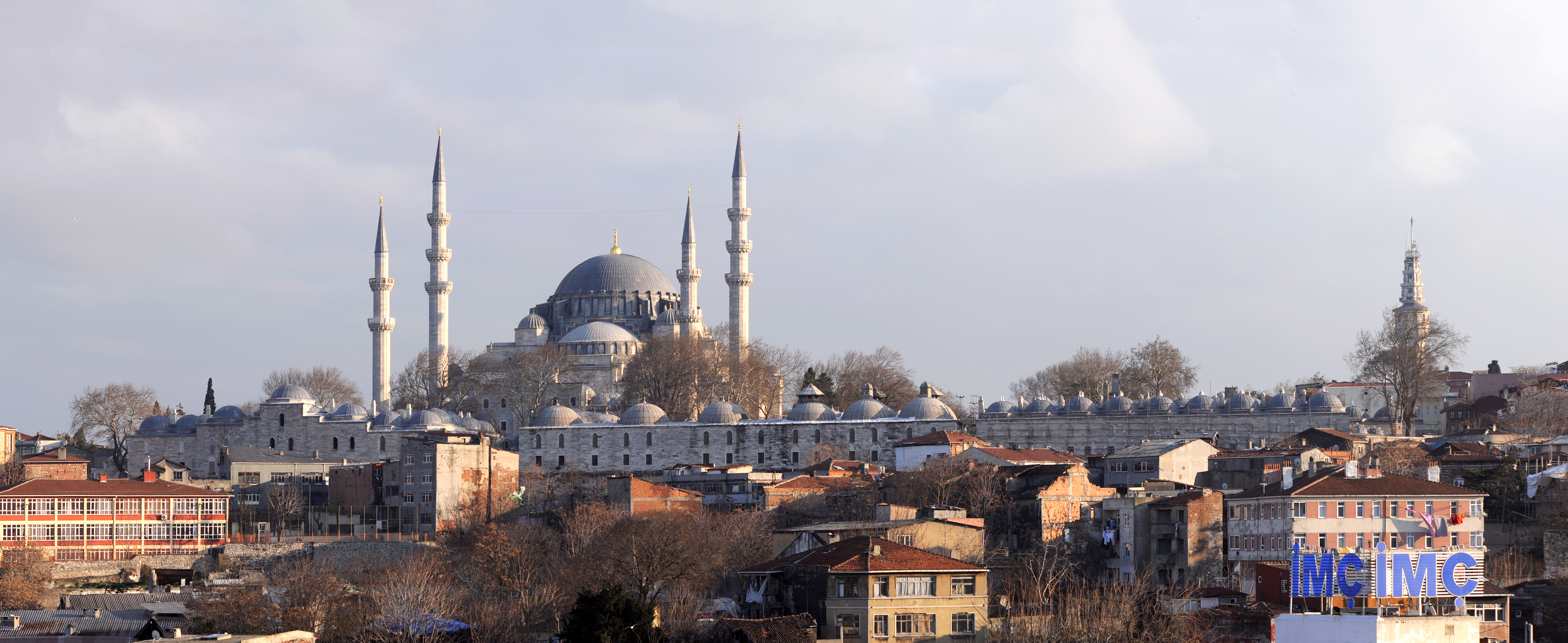 Istanbul Turkey  City pictures : Description 20111225 Suleymaniye Mosque Istanbul Turkey Panoramic