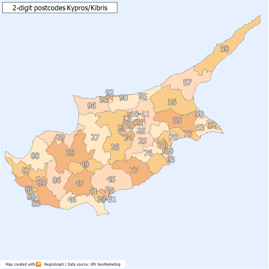 Postal codes in Cyprus  Wikipedia