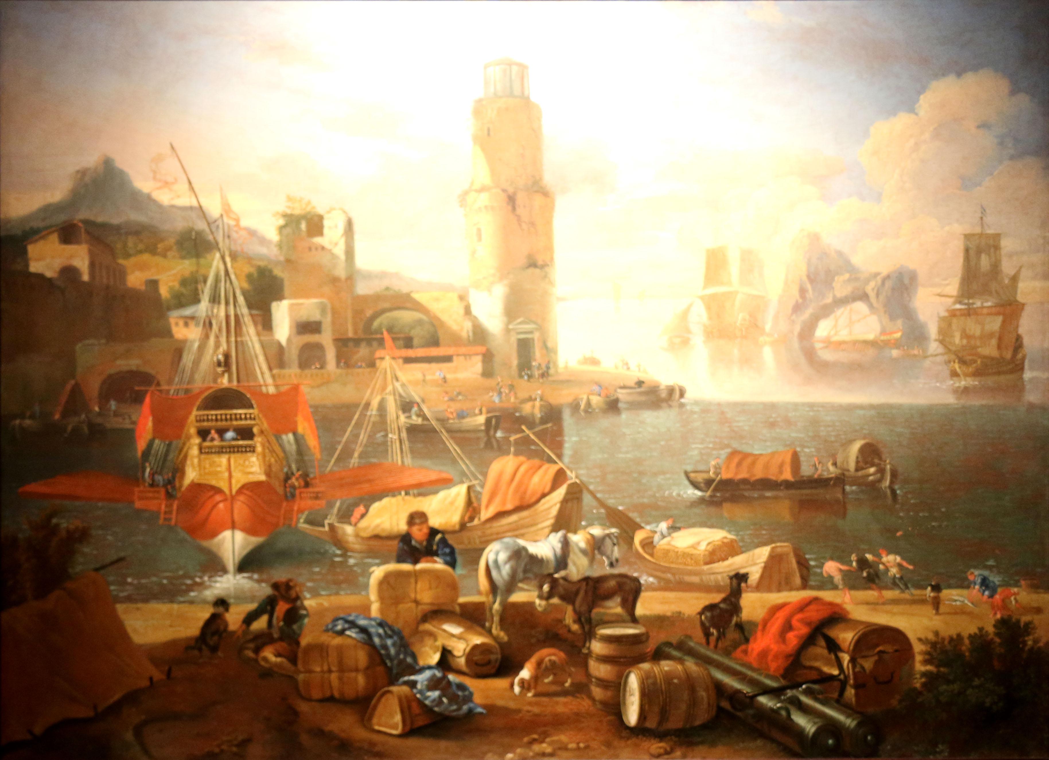File:Abraham Storck - Vue d'un port méridional.jpg - Wikimedia Commons