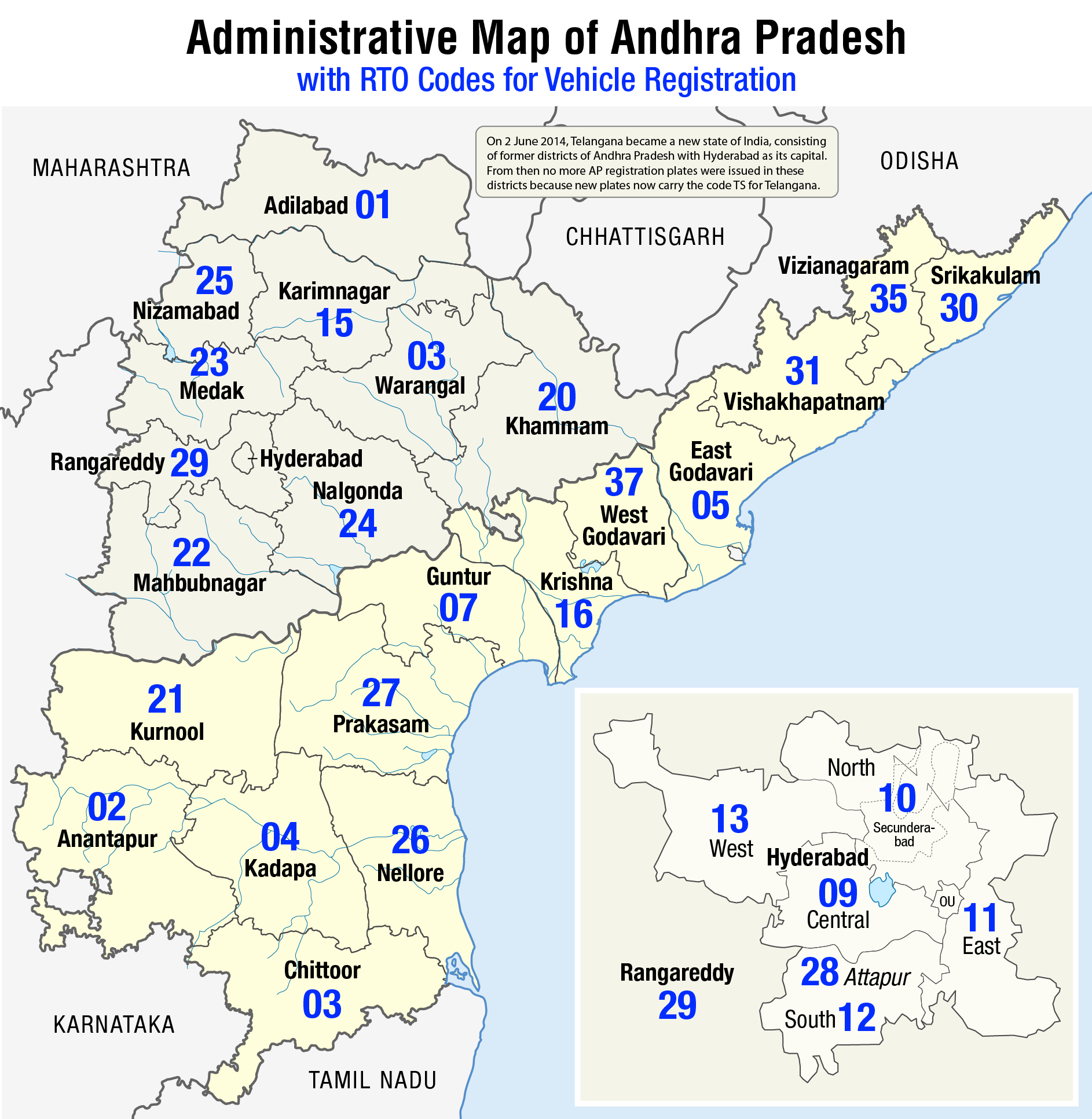 Datei:Administrative map of Andhra Pradesh with RTO codes for ... on