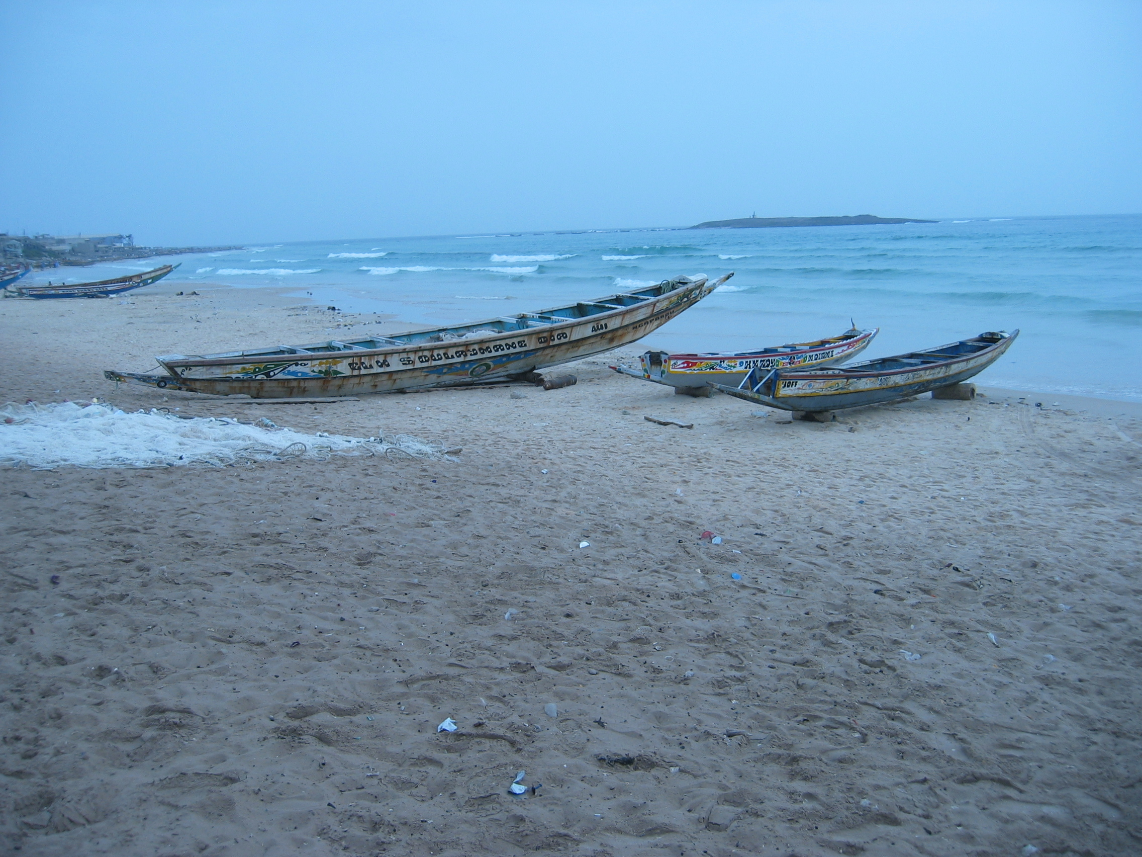 African Fishing Boat Fishing Boats at Mbour