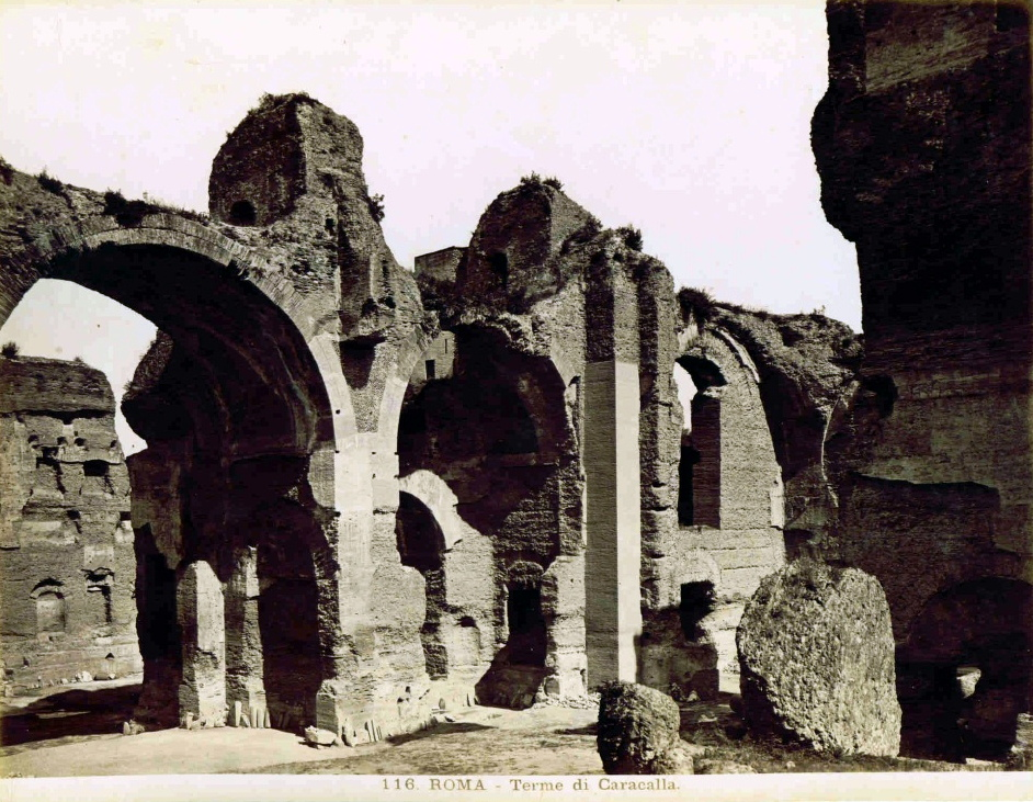 Thermes de Caracalla avant 1938 - Photo de Domenico Anderson