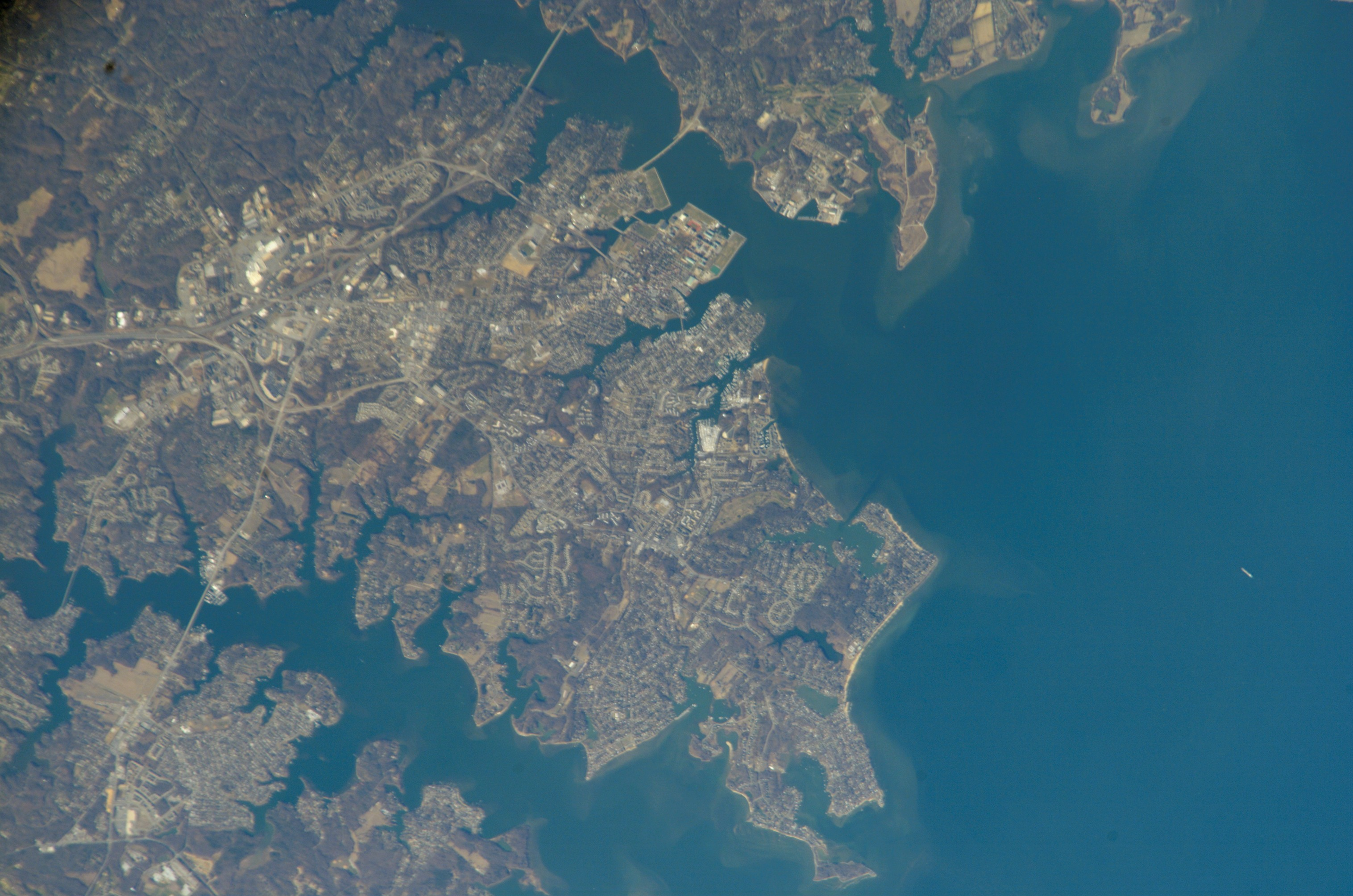 Astronaut Photography of Annapolis Maryland taken from