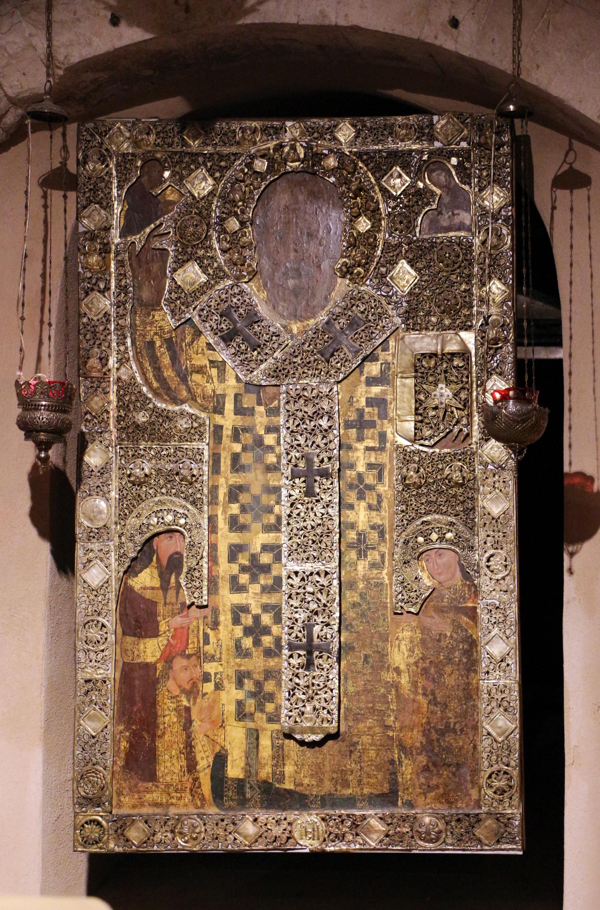Datei Bari San Nicola Interno Cripta Icona Di San